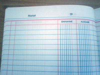 Haushaltsbuch Papier